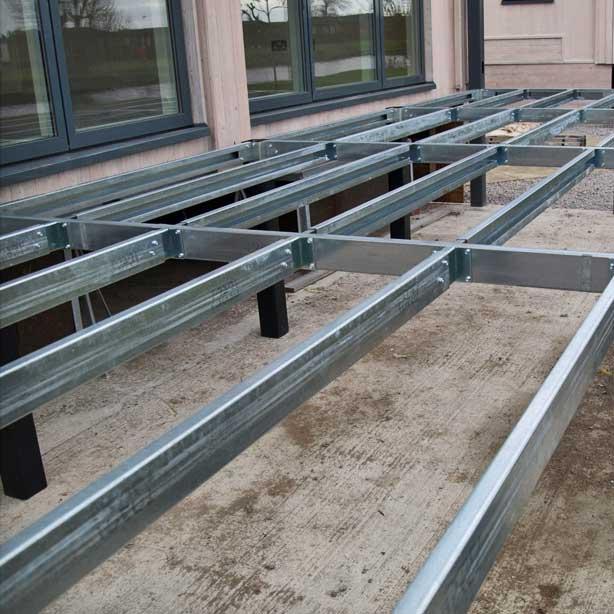 Galvanised Steel Sub-Frame Decking Frame