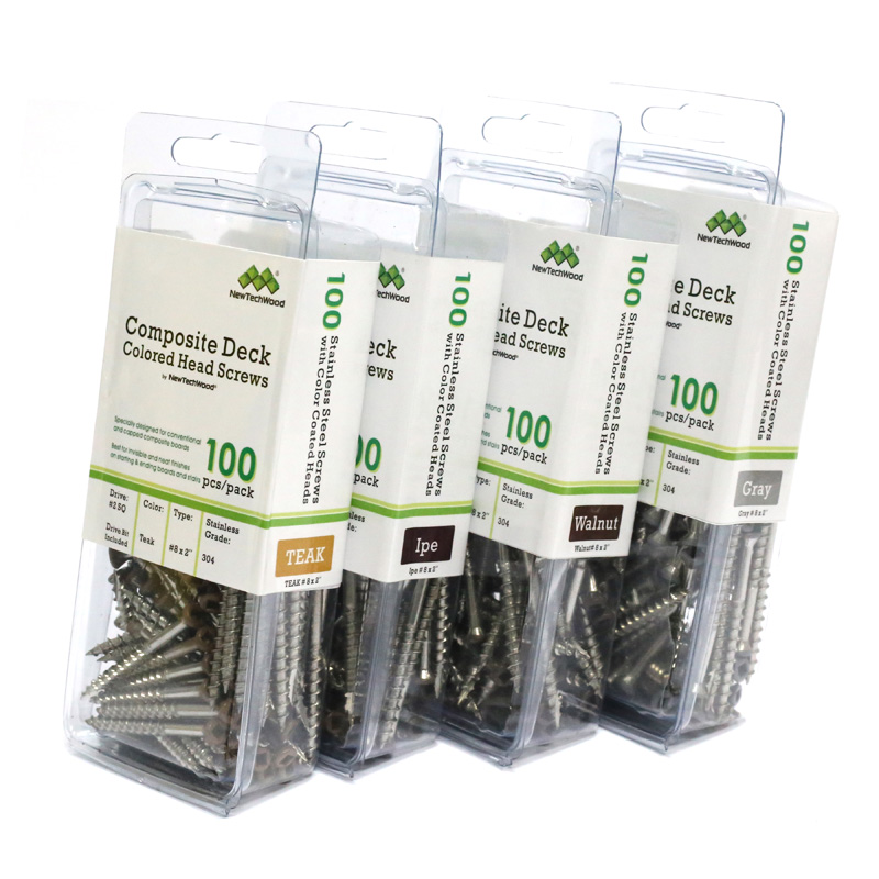NewTechWood UltraShield Coloured Screws Pack 100
